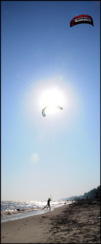 Photograph of parasailing on the Gold Coast south coast of Ontario